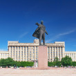 Square  and statue of Lenin,Saint Petersburg, Russia - Stock Photo