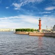 Rostral Column in Saint Petersburg in Russia. Evening. — Stock Photo #12260552