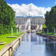 Grand cascade in Pertergof, Saint-Petersburg, Russia. — Stock Photo #12260562