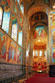 Interior of the Church Savior on Spilled Blood in St. Petersbur — Stock Photo