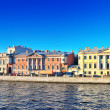 Embankment of the river of Neva in St. Petersburg, Russia - Stock Photo