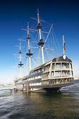 Old frigate in moorage St.Petersburg, Russia. — Stock Photo