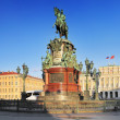 Monument to Nicholas I (1859) in St. Petersburg, Russia — Stock Photo #12497144