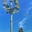 Stock Photo: Peter I monument against blue sky. Saint-petersburg, Russia