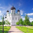 Stock Photo: RussiChurch in Pishkin, St. Petersburg.