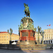 The monument to Nicholas I (1859) in St. Petersburg, Russia — Foto de Stock