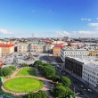 View on   of St. Petersburg city  from  the colonnade of St. Isaac's. — Stock Photo