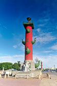 Rostral Column in Saint Petersburg in Russia. Evening. — Stock Photo