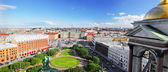 View on of St. Petersburg city from the colonnade of St. Isaac's. — Foto Stock
