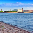 View of Saint Petersburg from Neva river. Russia - Stock Photo