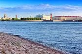 View of Saint Petersburg from Neva river. Russia — Stock Photo