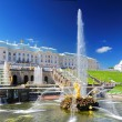 Grand cascade in Pertergof, Saint-Petersburg . - Stock Photo