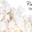 Fresh cottage cheese (curd) heap, isolated on white background . — Stock Photo