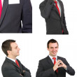 Set of caucasian businessman on white. Isolated. — Stock Photo