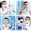 Set (collage) of young doctor in Hospital. — Stock Photo #21273415