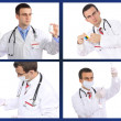 Set (collage) of doctor .Isolated over white background. — Stock Photo #21298077