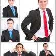 Set (collection) of european businessman. Isolated over white . — Stock Photo #21371265