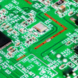 Close-up of electronic circuit board. Macro . - Stockfoto