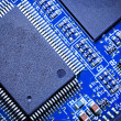 Close-up of electronic circuit board. Macro . — Stock Photo