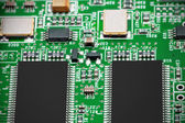 Close-up of electronic circuit board. Macro . — Stock Photo