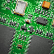 Stock Photo: Close-up of electronic circuit board. Macro .