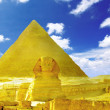 Stock Photo: Great Pyramid of Pharaoh Khufu, located at Gizand Sphinx.