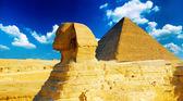 Grande pyramide de khéops pharaon, situé à gizeh et le sphinx. — Photo