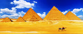 Great Pyramid located at Giza . — Стоковое фото