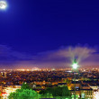 Night view of Paris from the hill of Montmartre.Paris. — Stock Photo