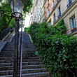 Stairs on the way to the basilica Sacre-Coeur. Paris. — Stock Photo