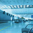 Interior of a modern airport. — Stock Photo