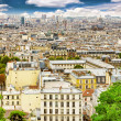 View of Paris from the hill of Montmartre.Paris. — Stock Photo