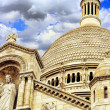 Sacre Coeur Cathedral on Montmartre , Paris — Stock Photo