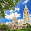 Sacre Coeur Cathedral on Montmartre , Paris — Stock Photo #32755229