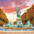 Luxembourg Garden in Paris,Fontaine de lObservatoir.Paris. — Stock Photo #33221831