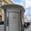 Automatic toilet on the street in Paris. France. — Foto de Stock