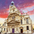 Church of Saint-Etienne-du-Mont (1494-1624) in Paris near Panthe — Stockfoto