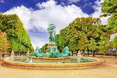 Luxembourg Garden in Paris,Fontaine de lObservatoir.Paris — Stock Photo