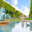 Luxembourg Garden in Paris,Fontaine de Observatoir.Paris — Stock Photo
