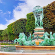 Luxembourg Garden in Paris,Fontaine de Observatoir.Paris — 图库照片 #34157217