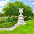 Sculpture and statues in Garden of Tuileries — Stock Photo