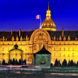 Les Invalides at night - Paris, France. — Foto de Stock