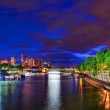 City, urban view of Paris from Seine river.France — Stock Photo #34401651