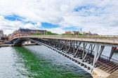 Pedestrian bridge Leopold Sedar Senghor. Paris.France — Stock Photo