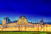 Louvre museum on September, night view, Paris, France — Stock Photo
