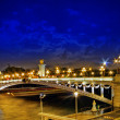 Alexandre III Bridge at the night view.Paris, France. — Stock Photo