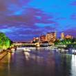 City, urban view of Paris from Seine river.France — Stock Photo #34972669