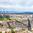 Panorama of Paris from the Montparnasse Tower. France(District — Stock Photo #34972717
