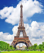 Eiffel Tower -view from the Champs de Mars.Paris,France — Stock Photo