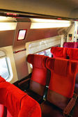 Interior of the high-speed train. — 图库照片